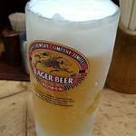 もつ焼き山本 - こちらのビールはキリンです。