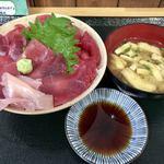 ふじやす食堂 - マグロ三昧丼 全貌720円