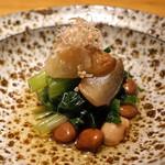 高太郎 - 料理写真:有機野菜と大豆のおひたし
