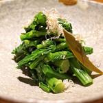 高太郎 - 菜の花昆布〆め
