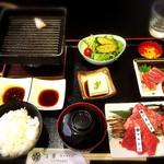 82581838 - 近江牛三種盛御膳(本日の肉:ヒウチ・マルシン・ハネシタ)