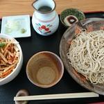 花見月 - 二八蕎麦とかき揚げ丼のセット