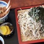 そば処 尾張屋 - 「大ザル」800円+「ミニ天丼」500円