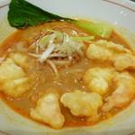 四条富小路 麺屋虎杖 - 小海老天ぷらカレー担々麺
