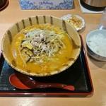 麺や 力 ぷらす - 料理写真:みそらーめん 800円(ライスと惣菜はサービス)