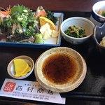 西村商店 - スマカツオのお刺身定食