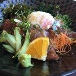 西村商店 - スマカツオの温玉ユッケ丼