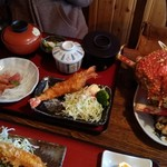 和食処 山女魚 - 高足がに定食