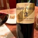 Le Salon de Legumes - Chateau Lagrave Martillac Rouge 2014