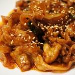 ロータス ジャパニーズ&コリアンキッチン - 韓国風豚バラ炒め