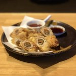 82603659 - 豚バラロール天ぷら(キムチ)