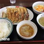 餃子の王将 - 料理写真:おろしポン酢で食べる餃子定食 780円+税