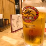 丸万焼鳥 - 2018年3月 生ビール