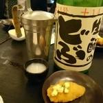麦酒庵 - 牡蠣フライに合わせた日本酒