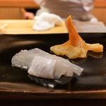 日本橋蛎殻町 すぎた - 野付の青柳、ひらめ