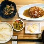 cafe & dining ぼたん - ランチ御膳(ポークハンバーグ)