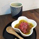 cafe & dining ぼたん - ランチ御膳のデザート(抹茶ブリュレ)