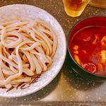 マサキヤ - 肉汁つけうどん(辛)