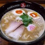 ラーメン人生 JET600 - 【鶏煮込みそば + 半熟味付玉子】¥750 + ¥100