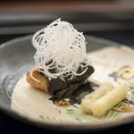 日本料理 晴山 - 2018.3 鰆の海苔酢焼き 独活のツマ 独活の天ぷら