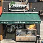 82617026 - 「サンマ寿司」のオブジェが目立つ店構え