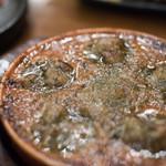 我武者羅 - 2018.3 地鶏モツガーリックバター焼 エスカルゴ風(580円)