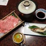 82617169 - 夕食2「美熊野牛の温泉しゃぶしゃぶ」と「鮎の塩焼」
