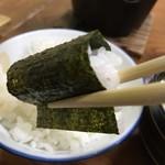 旅館 湯之迫 - 海苔はいつもの食べ方で