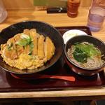 阪急そば若菜 - カツ丼定食770円(税込)