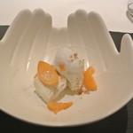 リストランテ カノフィーロ - ゴルゴンゾーラとくるみのセミフレッド キンカンのコンポスタとハチミツ