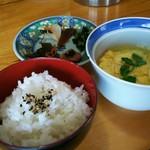 蒸鶏工房 白地商店 - 鶏スープセット ¥530