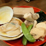 Nihonshuhanatare - 海おでん5種盛り1880円