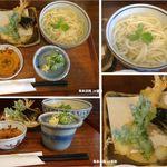 麺 銀三 - 天ぷら釜揚げうどん。麺銀三(名古屋市)食彩品館.jp撮影