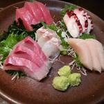 蔵の庄 - 料理写真:お刺身五点盛り