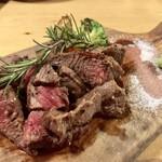 82627689 - 岡山新見千屋牛A-5熟成肉ステーキ150g モモ(2,000円)