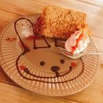 my cafe - 紅茶のシフォンケーキ 420円