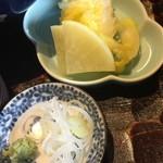 玄蕎麦 路庵 - 漬物と薬味