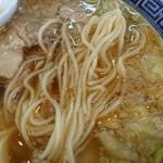マル寛そばや - ストレート細麺