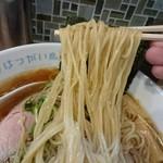 はつがい商店 - 生姜醤油ラーメン 麺リフト
