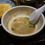 つけ麺 道 - スープ割りの後