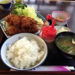 あたりや - 串カツ定食(870円)