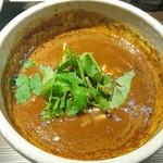 82642245 - 半熟味玉スパイスつけ麺(汁)