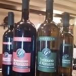 伊太めし?こるて - イタリアンの単一ブドウで造られたワイン赤白
