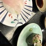 廻る寿司 ぽん太 - 料理写真:カワハギ、キモ軍艦