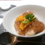 エクアトゥール - 料理写真:蛤とフカヒレと雲丹