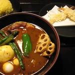 82657258 - ウダン(エビ天2本) + エナック鶏卵ゆで卵