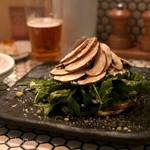 82657869 - 「千葉県産フレッシュマッシュルームとクレソン、セルバチコのサラダ」