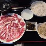 焼肉永澤園 - 1.5倍ランチカルビ定食1150円