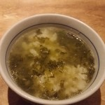 春日原 十八 - 〆の高菜茶漬け。
