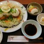 とんかつかつ饗 - ネギおろしロースかつ定食 1450円